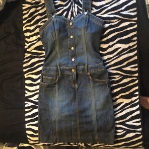 ✨Bebe Jean Dress with Rhinestones🖤💕